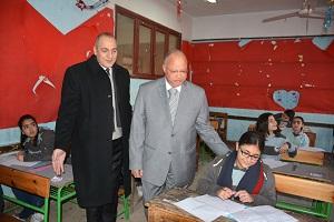 جولة محافظ القاهرة يتفقد إمتحانات الفصل الدراسي الأول للشهادة الاعدادية