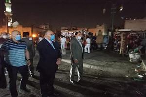 جولة تفقدية مفاجئة لمحافظ القاهرة للتأكد من تطبيق الإجراءات الإحترازية