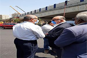 جولة تفقدية للسيد محافظ القاهرة للمنطقة الواقعة أسفل كوبرى الميرغنى